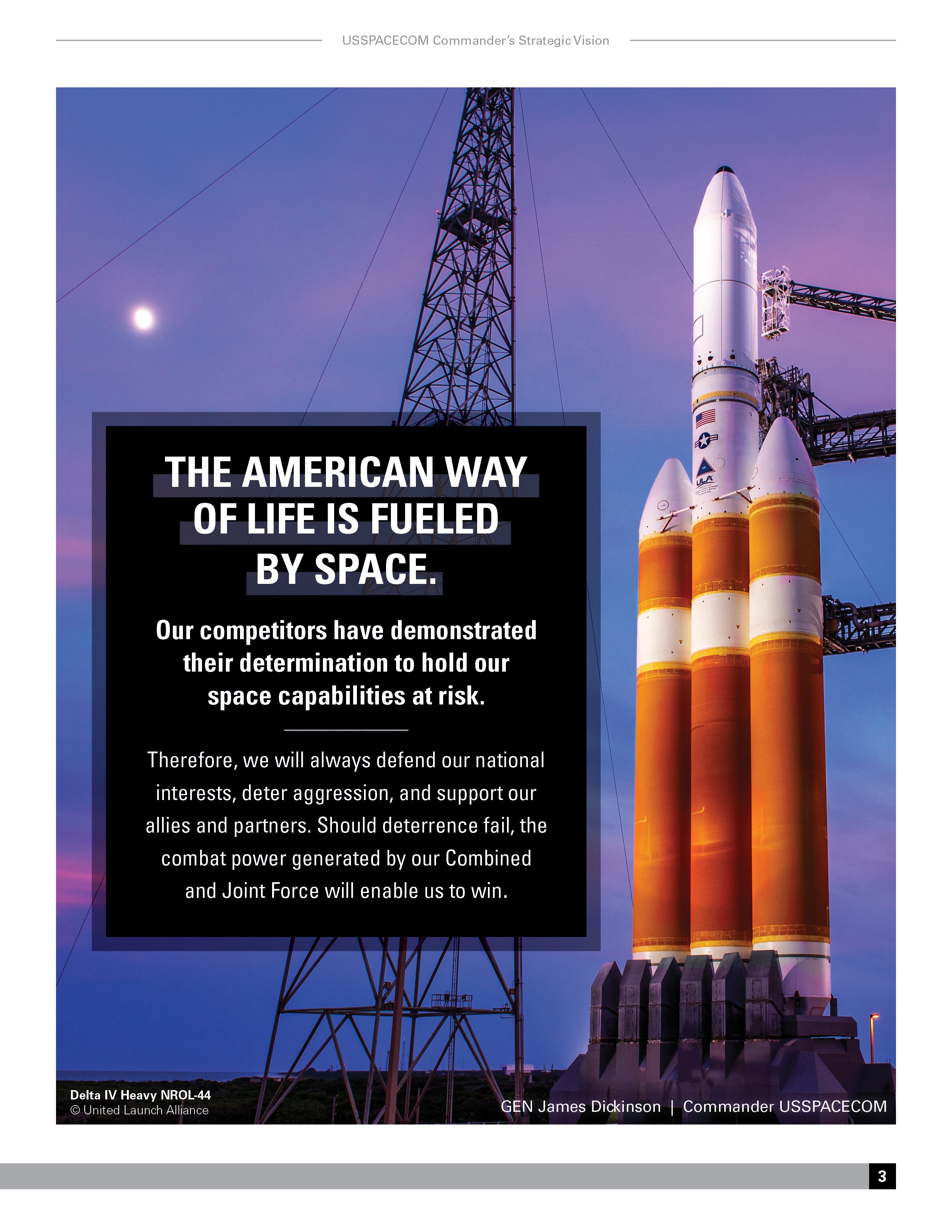 American way of life fueled by space graphic